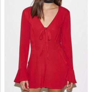 Kendall and Kylie Bell Sleeve Romper-S